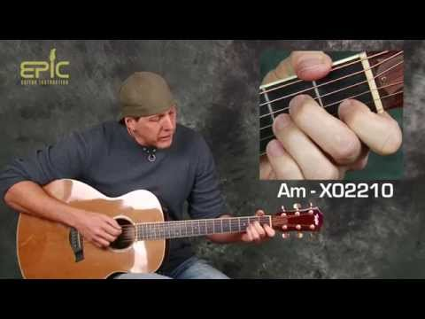 Learn Stone Temple Pilots Creep easy acoustic guitar lesson with strum patterns chords tabs