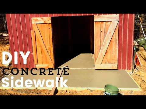 How To Build a Concrete Sidewalk