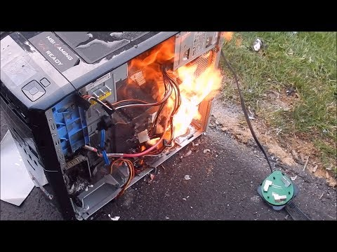 Burning the Dell XPS 420 alive and smashing it