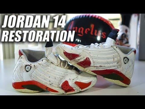 Jordan 14 Full Restoration | A Quick Thrift Fix! Tutorial