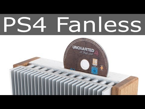 PS4 Fanless / wood & stone PlayStation 4 passive cooling mod