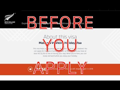 Preparing to Apply for a Malaysia Working Holiday Visa New Zealand (Kerja Luar Negeri)