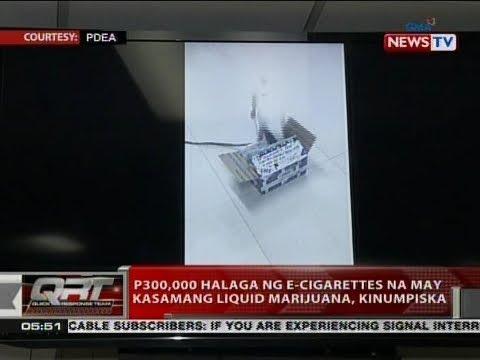QRT: P300,000 halaga ng e-cigarettes na may kasamang liquid marijuana, kinumpiska