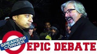 Dr Larry Taunton vs Mansur | Epic Muslim Christian Debate | Speakers Corner