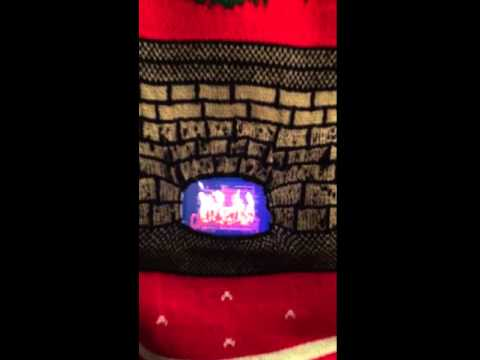 Morph DigitalDudz Moving Fireplace Ugly Sweater
