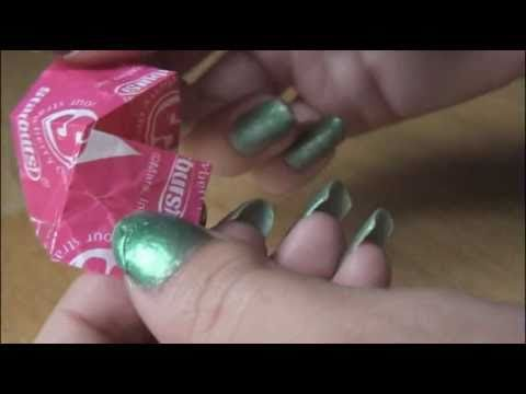 DIY: Starburst Wrapper Origami Flapping Bird. | SoCraftastic