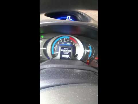 Honda Insight - changing the settings
