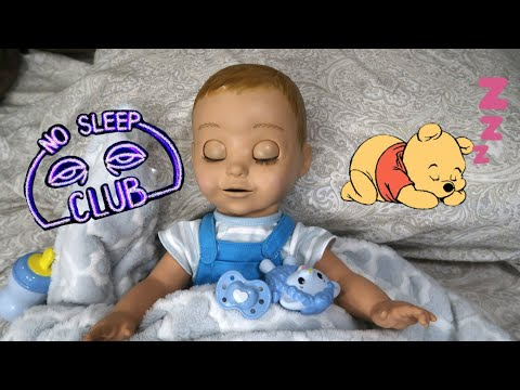 Luvabeau/Luvabella Night Routine - Baby Doesn't Want To Sleep - Robot Talking Baby Doll