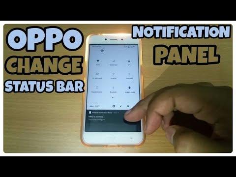 Change Status Bar Notification Panel in Oppo,Samsung,Vivo & Xiaomi