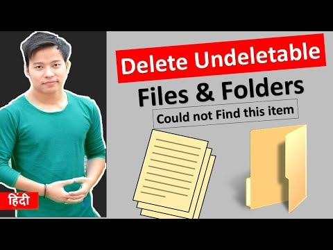 How to Delete File Could Not Find This item Folder? Undeletable Files folders ko delete kaise kare