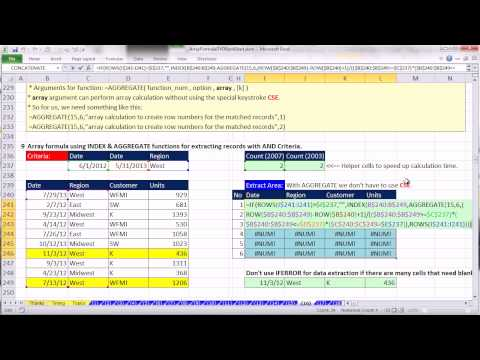 Ctrl + Shift + Enter: Excel Array Formulas 16: Formulas To Extract Records With Criteria 23 examples