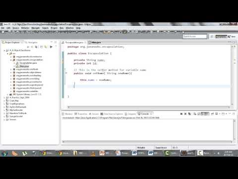 Object Oriented Programming - Q 08) Encapsulation