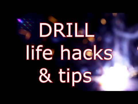 drill machine, life hacks, tips, safe ways to use home made tools