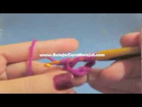 Double Treble Crochet - Belajar Crochet