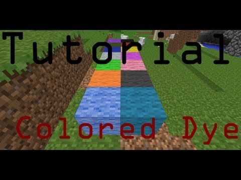 How to Make All Dye Colors - Minecraft Tutorial