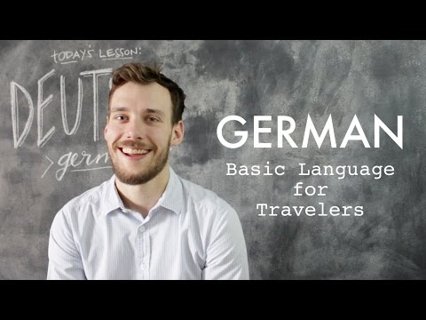 GERMAN // Basic Words + Phrases for Travelers