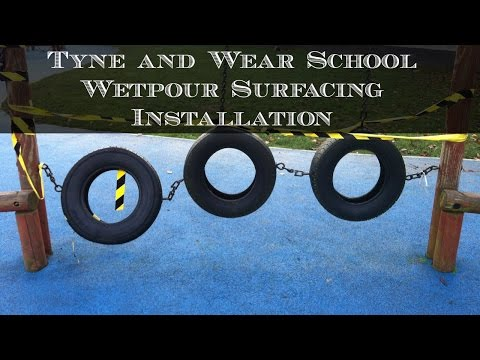 Tyne and Wear School Wetpour Surfacing Installation