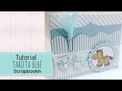 Tutorial Tarjeta scrap  bebé , Card scrap Baby Shower