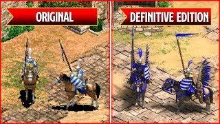 Age of Empires 2: Definitive Edition - All Unique Units Comparison - Original vs Remaster