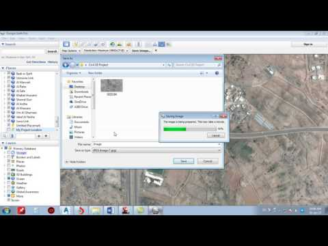 Import Google Earth Image to AutoCAD Civil3d 2012 - Step By Step