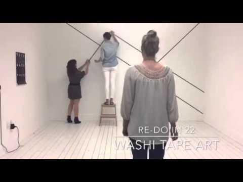 Re Do in 22: Minimal Washi Tape Art Wall