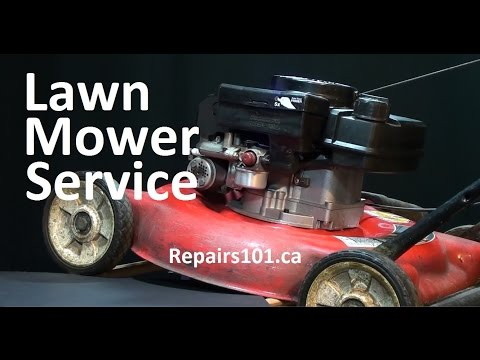 How to Service Your Lawn Mower - Basic Engine Service & Blade Sharpening