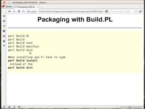 Packaging Perl Module with Build.PL