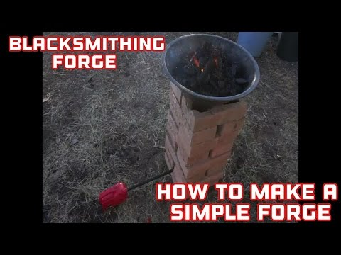 BlackSmithing - Make A  Simple Blacksmith Forge