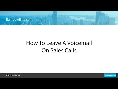 How To Leave A Voicemail On Sales Calls