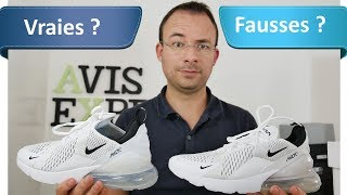 Nike Air Max 270 AliExpress (69€) VS Authentiques (150€) - le comparatif