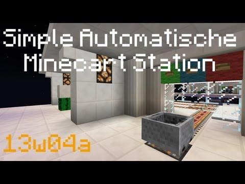 Minecraft 1.8 Tutorial - Simpler Vollautomatischer Minecart-Bahnhof ᴴᴰ