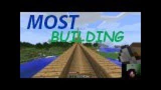Minecraft stavění mostu