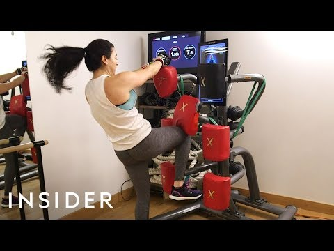 Kickboxing Class Uses Interactive Boxing Equipment