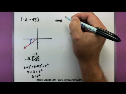 Trigonometry - Find the value of trig functions using a point