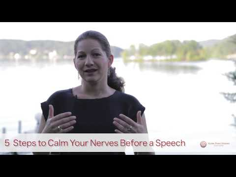 5 steps to calm your nerves right before a speech