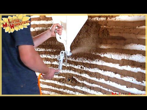 Fast Way to Cob Walls using a Hopper | Earthbag Construction Ep 12 | Weekly Peek
