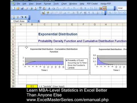 Create an Excel Graph of the Exponential Distribution - WITH INTERACTIVITY !