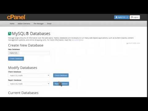 How to change a MySQL Database users password in cPanel
