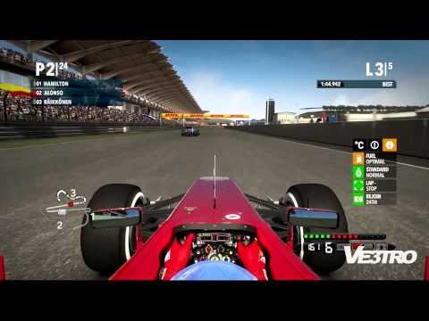 F1 2012 - Ferrari Malaysia Sepang International Gameplay