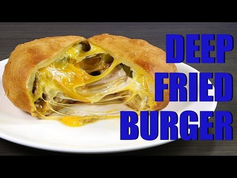 Easy Recipe: Deep Fry Cheddar and Pickle Burger