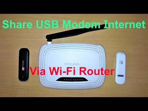 Share USB Modem Internet Via Wi-Fi Router | Som Tips