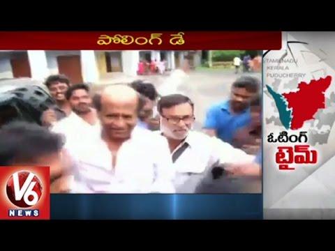 Polling Underway In Tamilnadu, Kerala | Rajinikanth, AK Antony Cast Their Votes | V6 News