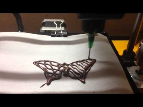 3D Food Printer Hex 1.1 - Chocolate Butterfly