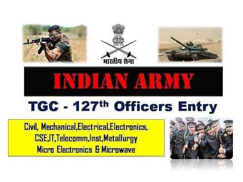 Indian Army TGC- 127 Officers Recruitment 2017 | No application fee | Apply Online
