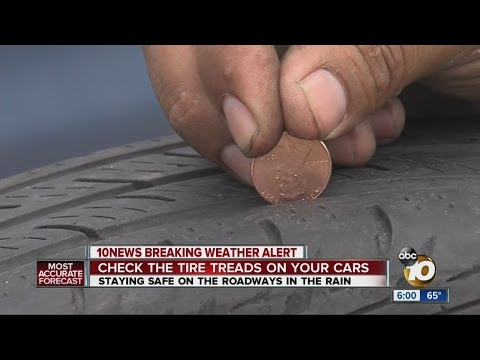 Driving safe in the rain: Tire tread safety