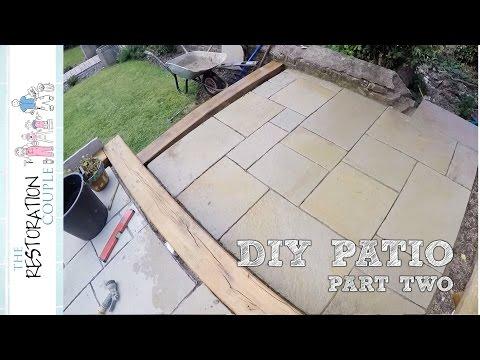 Laying a Natural Stone Patio - DIY - PART 2