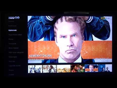 HBO GO TV-s applikáció prezentálása LG 32LF632V okostévén