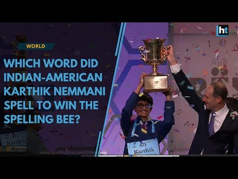 Which word did Indian-American Karthik Nemmani spell to win the Spelling Bee?