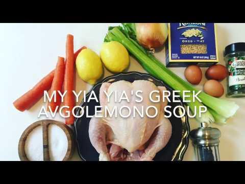 Greek Avgolemono Soup
