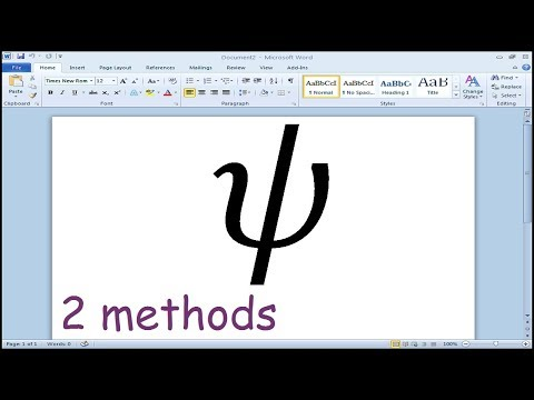 How to insert Psi symbol in Microsoft Word